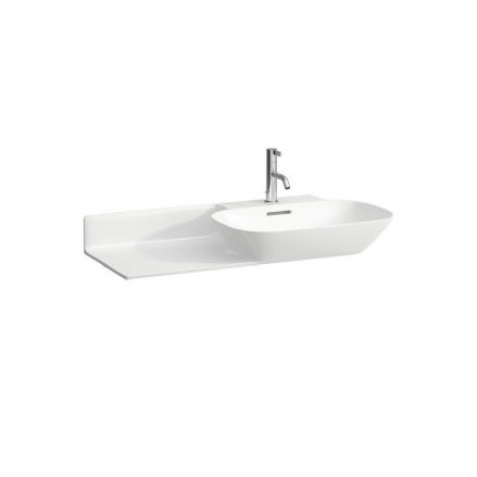 813301 - Laufen Ino 900mm x 450mm Washbasin (Left Shelf) - 8.1330.1